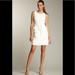 Taylor Tiered silk dress in ivory